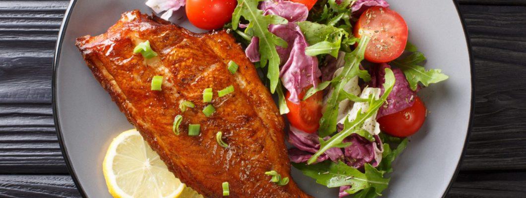 sauteed rockfish with salad