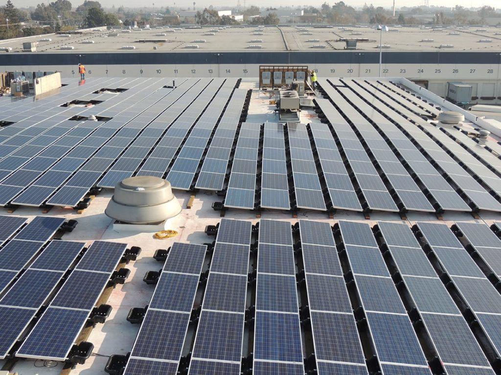 Pucci Foods solar panel-laden roof, Hayward, Ca