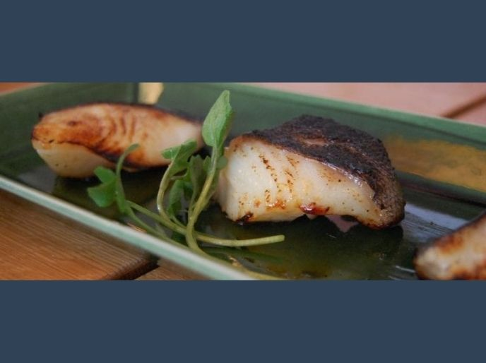 fried black seabass